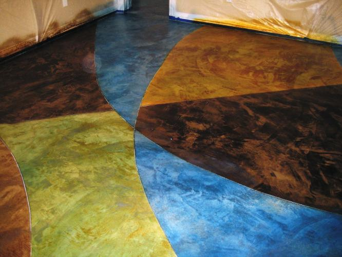 staining concrete floors in your house home gallery stained acid pictures diy painted and